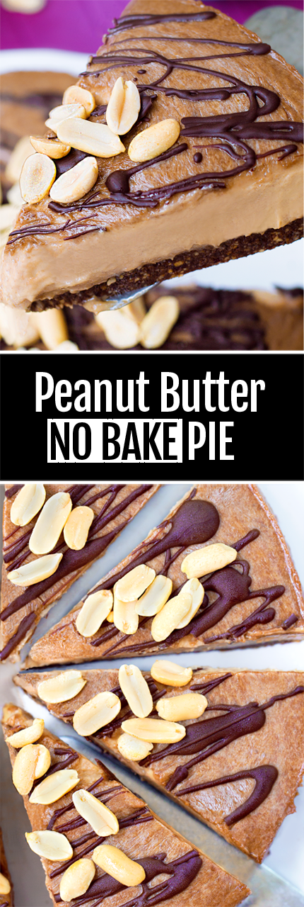 5 Ingredient Peanut Butter Pie - NO cool whip, and NO cream cheese!