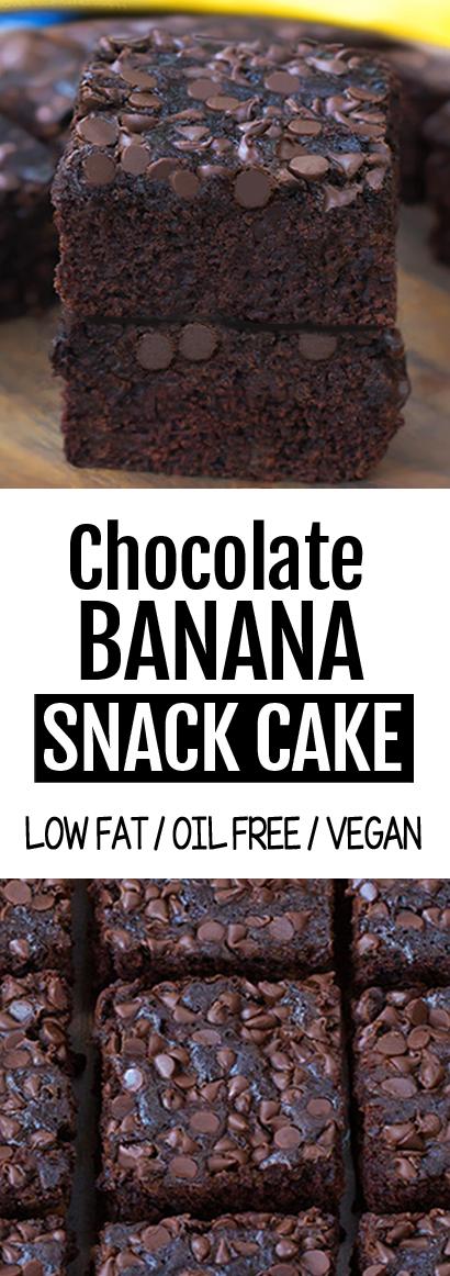 Super Healthy Chocolate Banana Cake Recipe