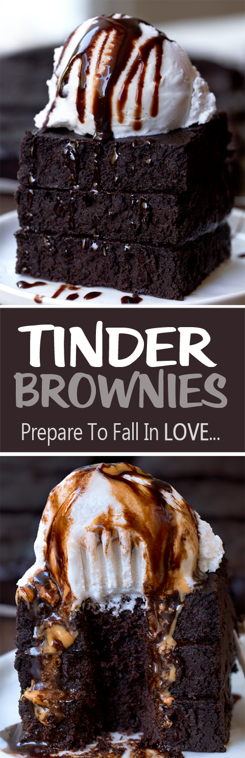 Tinder Brownies, one of the BEST brownie recipes I've ever tried
