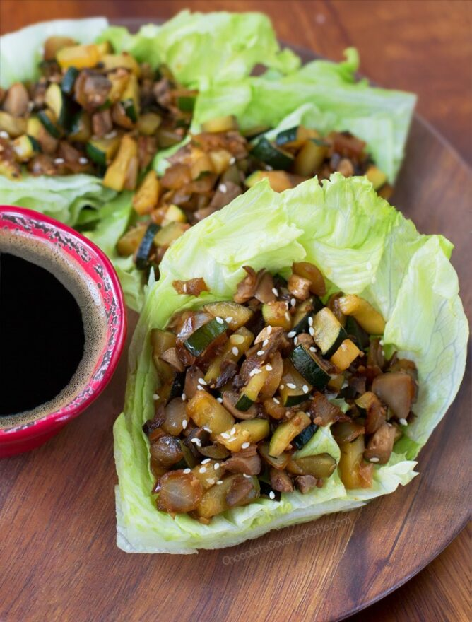 vegetarian lettuce wraps like P.F. Chang's
