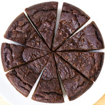Deep Dish Chocolate Brownie Pie