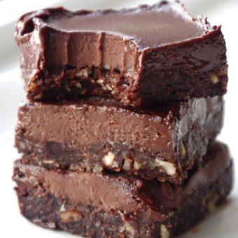 No Bake Chocolate Fudge Bars