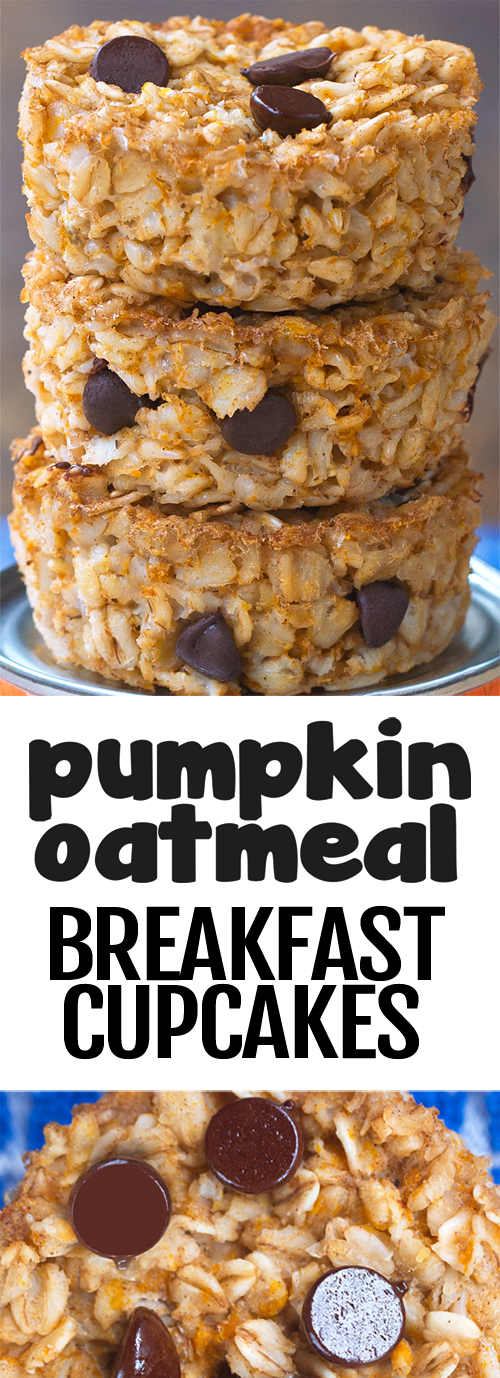 Super Healthy Pumpkin Breakfast Oatmeal Cupcakes To Go