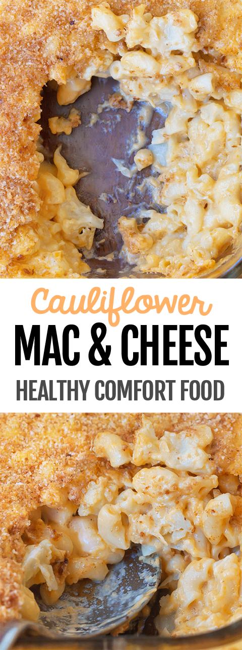Skinny Baked Cauliflower Mac And Cheese