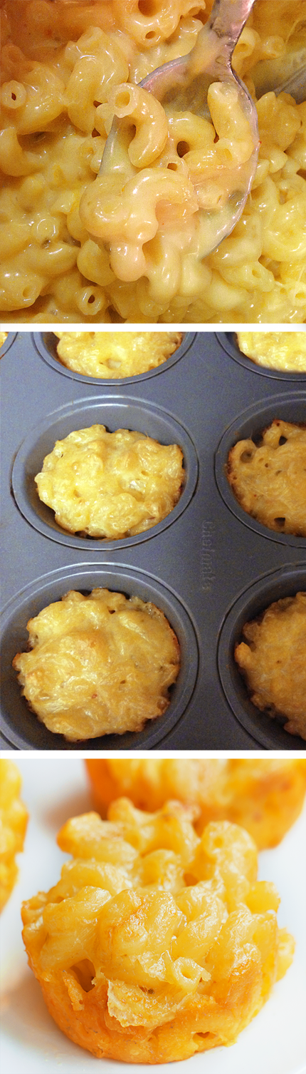 Baked Mac And Cheese Cups To Go!