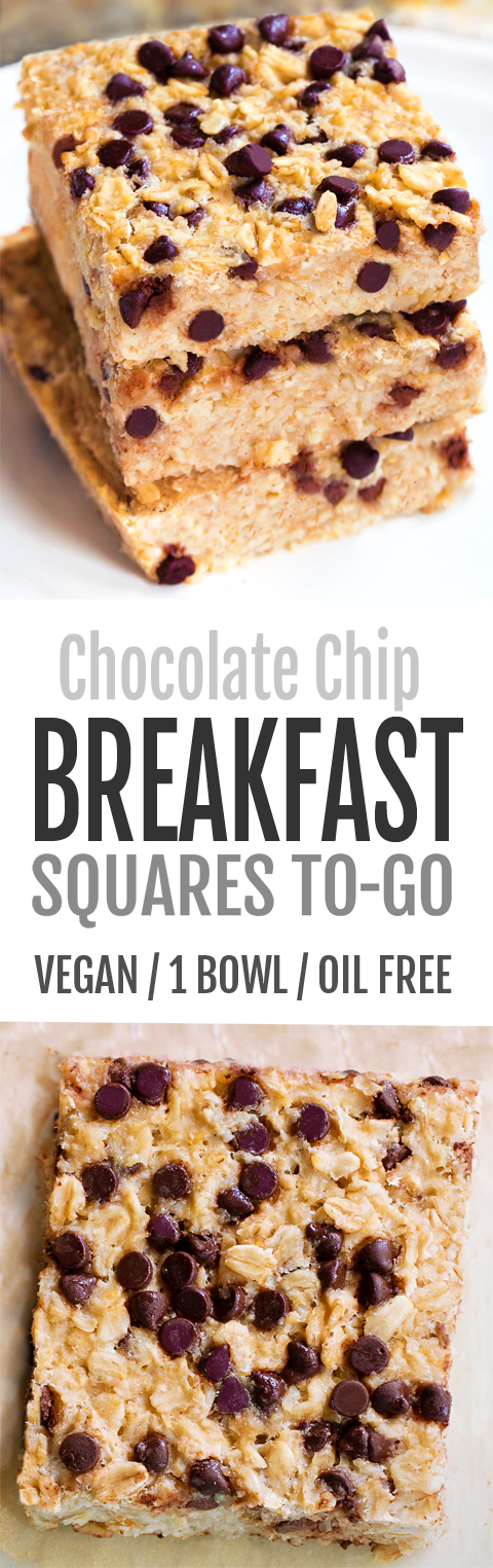 Chocolate Chip Oatmeal Breakfast Squares To-Go