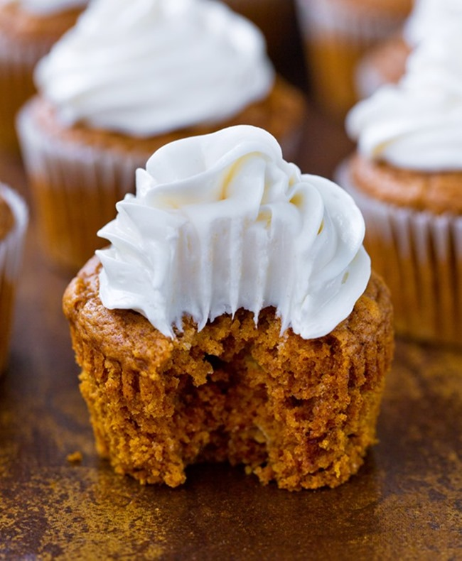 Pumpkin Cupcakes Cream Cheese Frosting