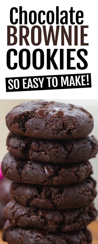 Super Easy Chocolate Fudge Brownie Cookies