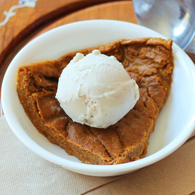 crustless pumpkin pie crop