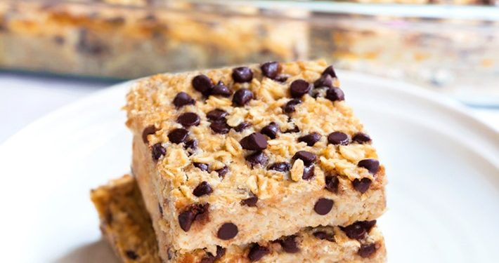Chocolate Chip Oatmeal Breakfast Squares