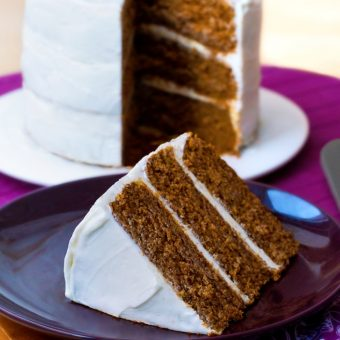 Spice Cake – With Cream Cheese Frosting!