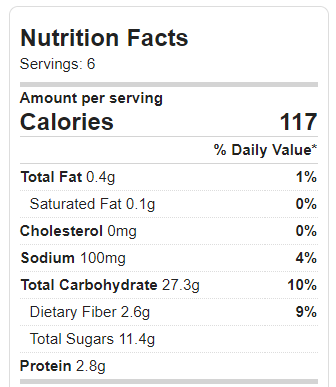 Nutrition Facts–Vanilla Cupcakes – Chocolate Covered Katie