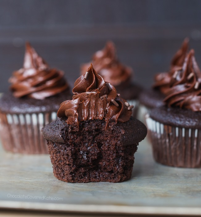 cupcakes de chocolate vegan