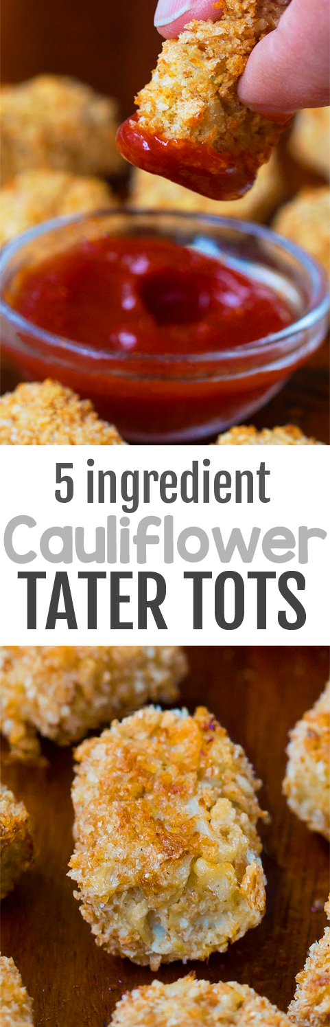 Cauliflower Tater Tots with just 5 ingredients (Vegan)