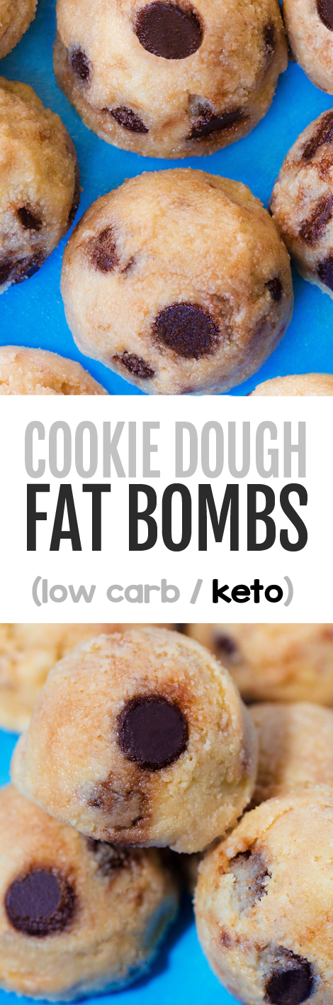 Keto Cookie Dough Fat Bombs Low Carb