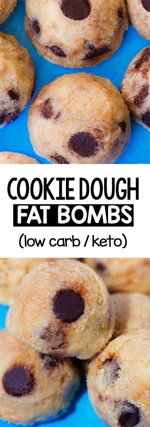 LOW CARB Keto Cookie Dough Fat Bombs Recipe