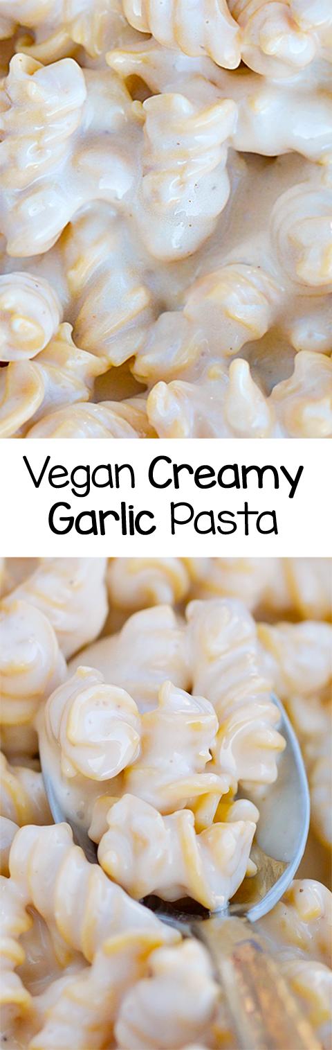 Vegan Creamy Garlic Pasta Recipe