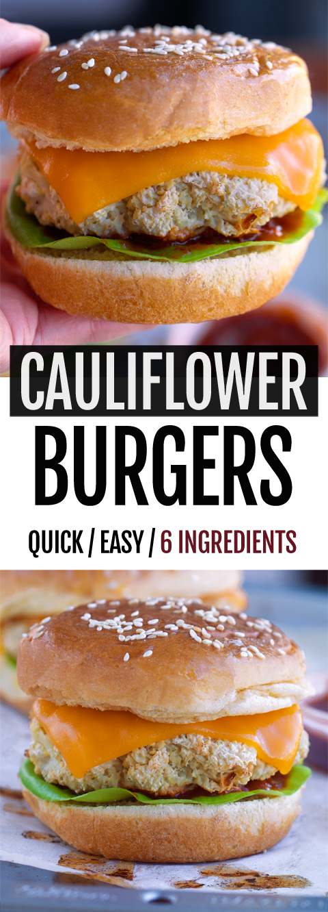 6-Ingredient Cauliflower Burgers With Vegan And Keto Options