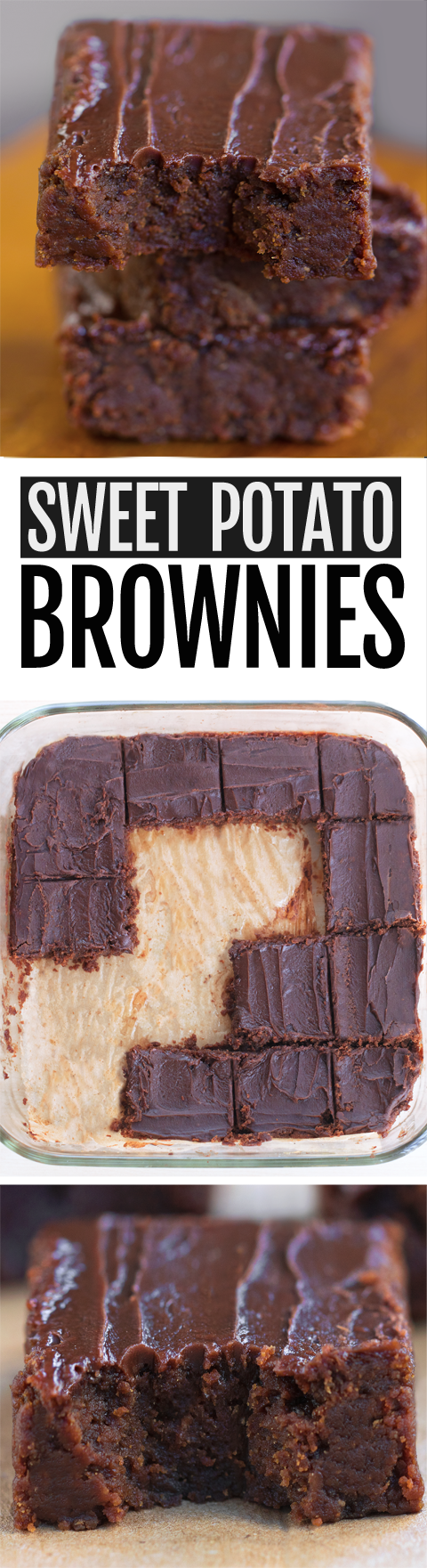 Super Healthy Sweet Potato Brownies (Vegan)