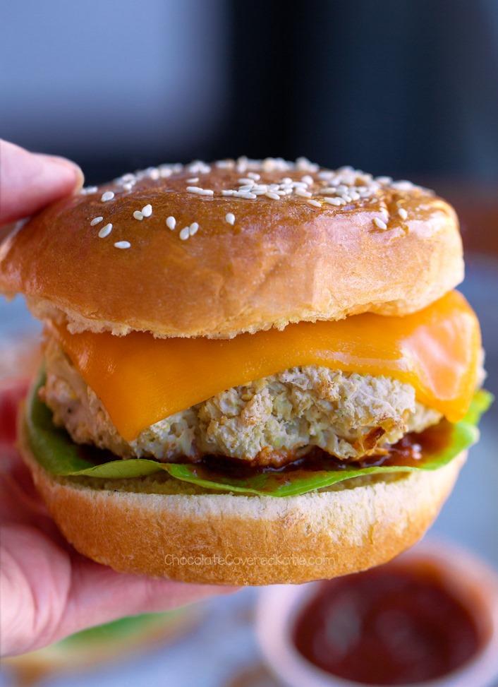 Vegan Cauliflower Burgers (Keto, Gluten Free Options)
