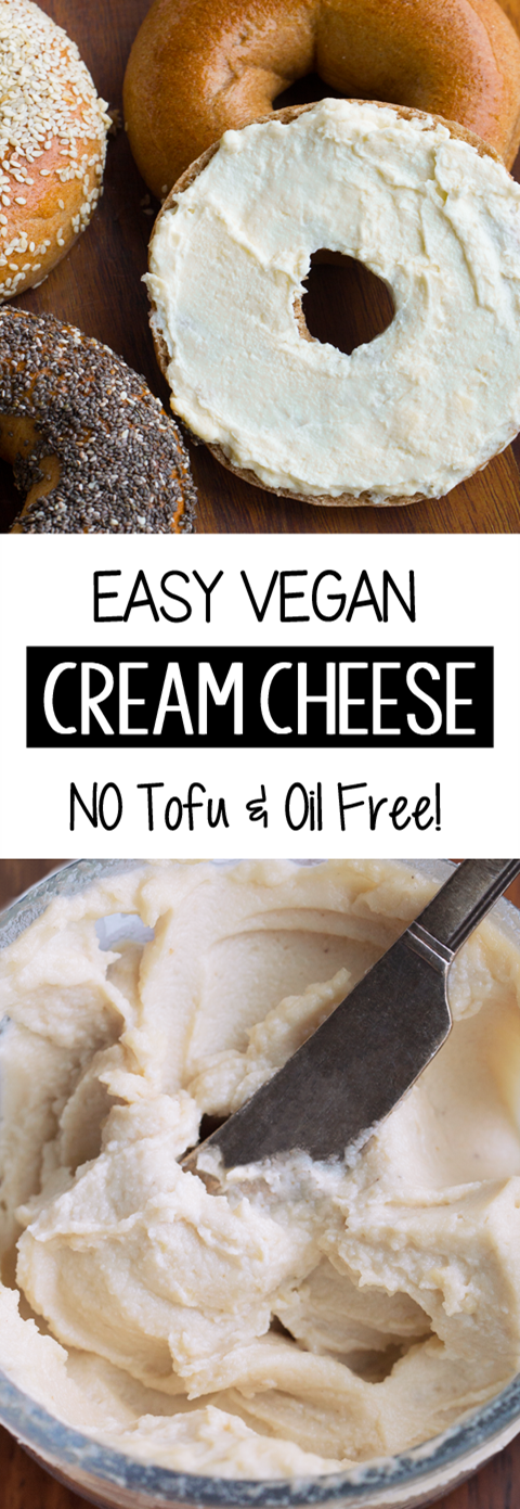 4 Ingredient Vegan Cream Cheese (Oil Free, Soy Free)
