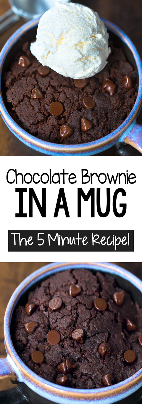 How To Make A Chocolate Brownie In A Mug, the five minute recipe!