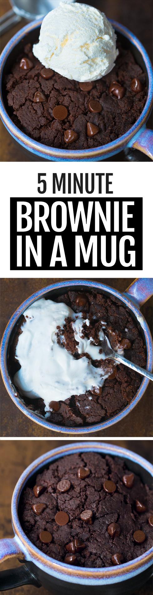 Easy Brownie In A Mug, a single serving chocolate recipe