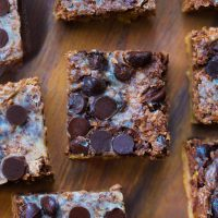 Low Carb Chocolate Magic Bars made with almond flour