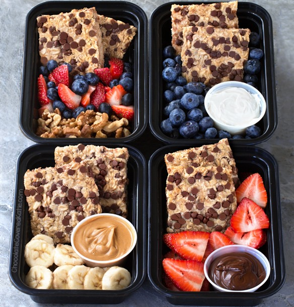 Breakfast Meal Prep Oatmeal Bars (4 Ways)