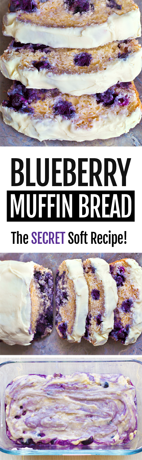 The BEST Blueberry Bread Recipe
