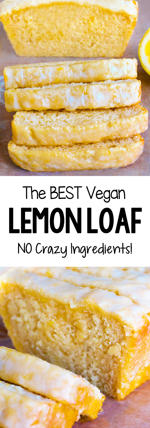 The Best Secretly Healthy Vegan Lemon Bread