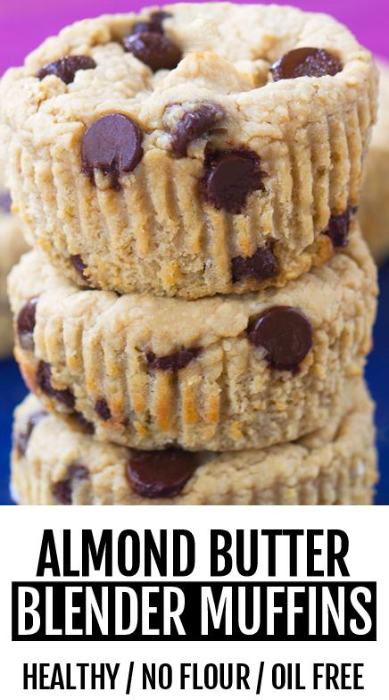 Oil Free Chocolate Chip Blender Muffins Recipe