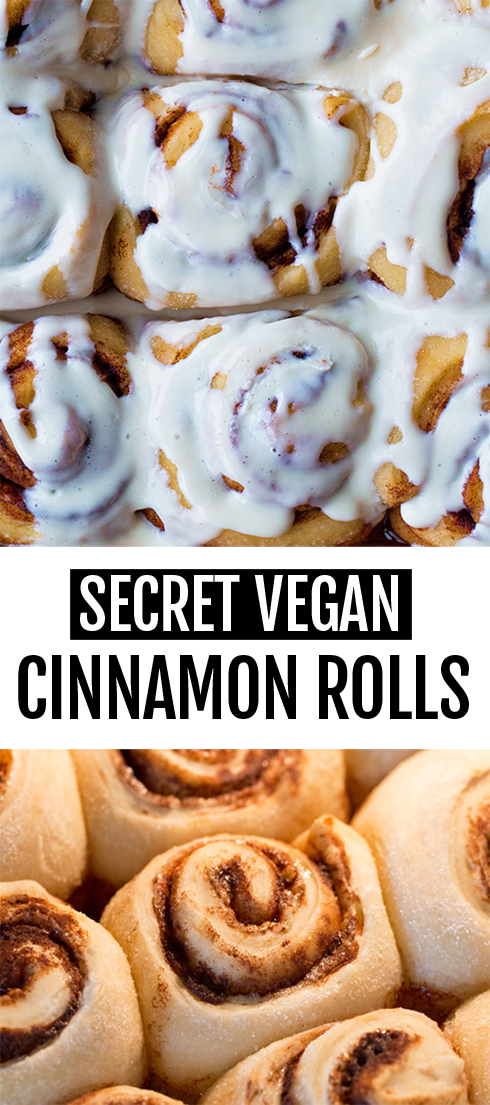 GOOEY Sweet Soft Delicious Frosted Vegan Cinnamon Rolls Recipe
