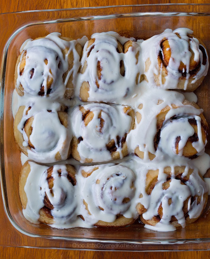 Super Easy Healthy Vegan Cinnamon Rolls