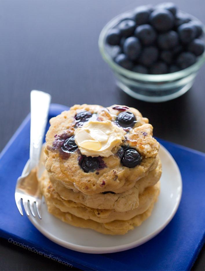 Easy Homemade Vegan Blueberry Pancakes