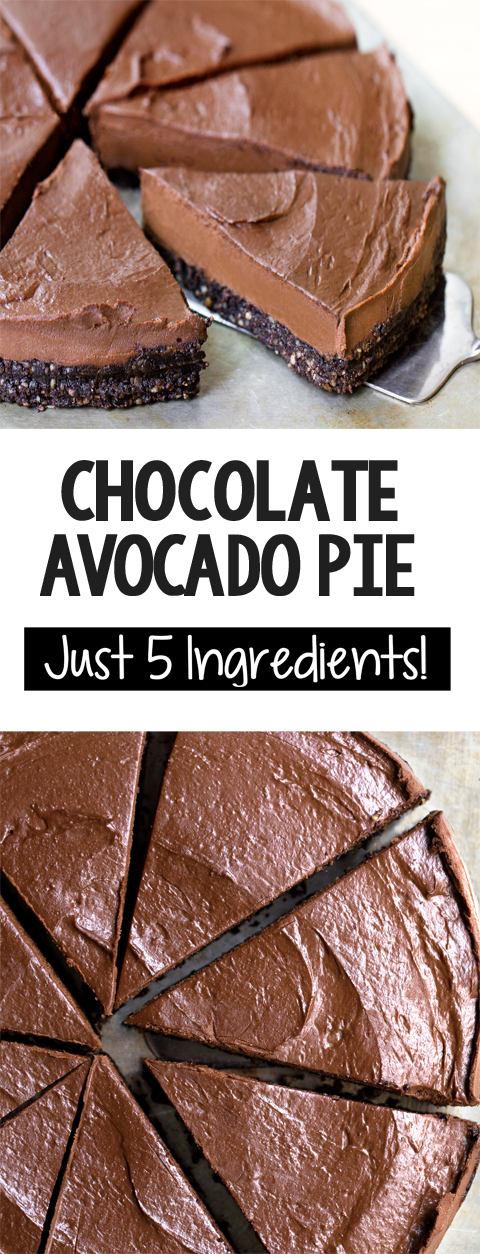 The Best Creamy Vegan Chocolate Avocado Pie Recipe