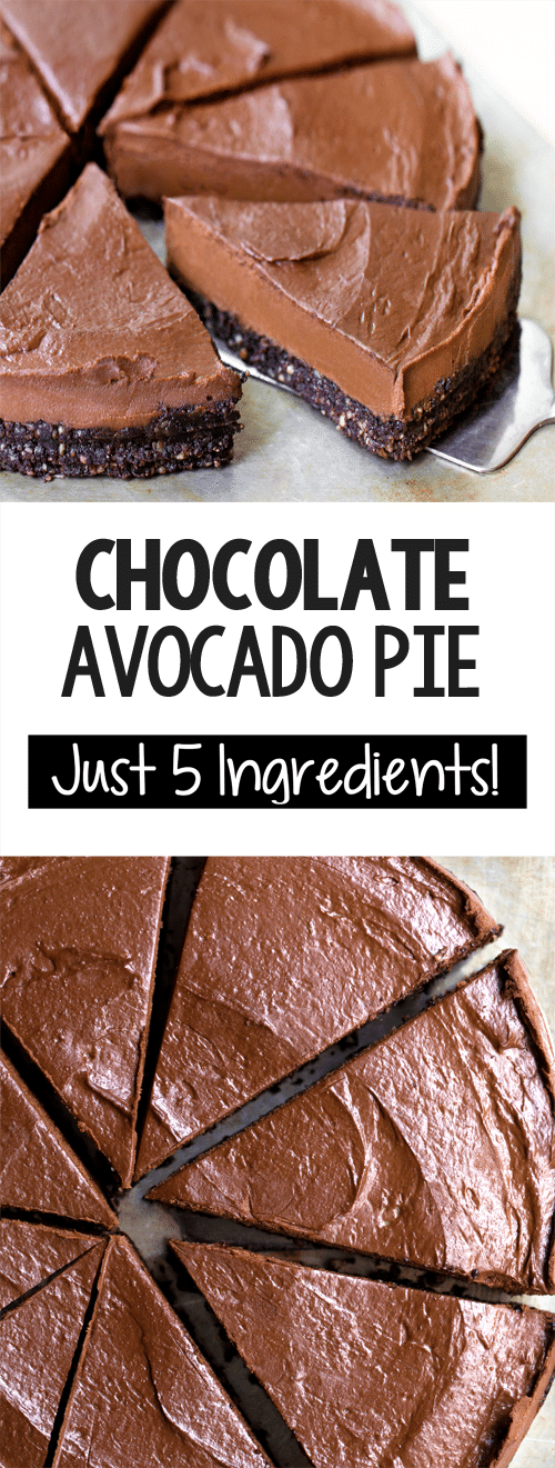 The Best Easy Creamy Vegan Chocolate Avocado Pie Recipe