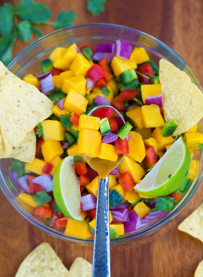 5 Minute Mango Salsa Recipe (Vegan, Whole Foods)