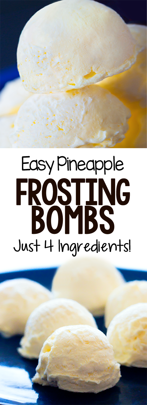 Creamy Healthy Easy Pineapple Frosting Bombs Recipe