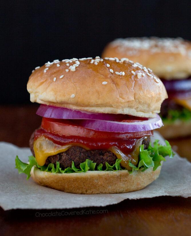Homemade Veggie Burgers (Grillable, Vegan, Gluten Free)