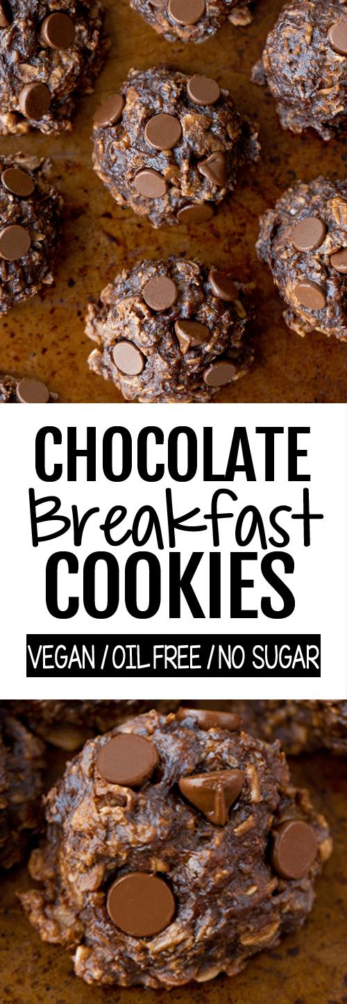 No Bake Healthy Chocolate Breakfast Cookie Recipe