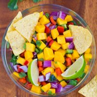 Super Healthy Homemade Mango Salsa Recipe
