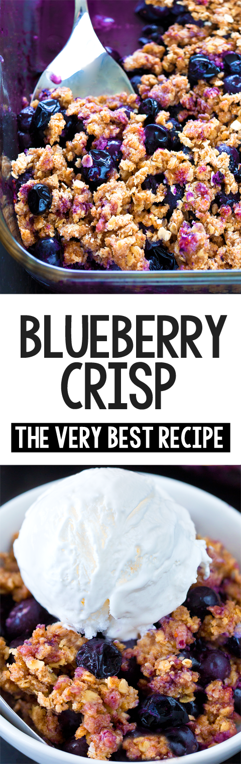 The BEST Classic Blueberry Crisp Recipe