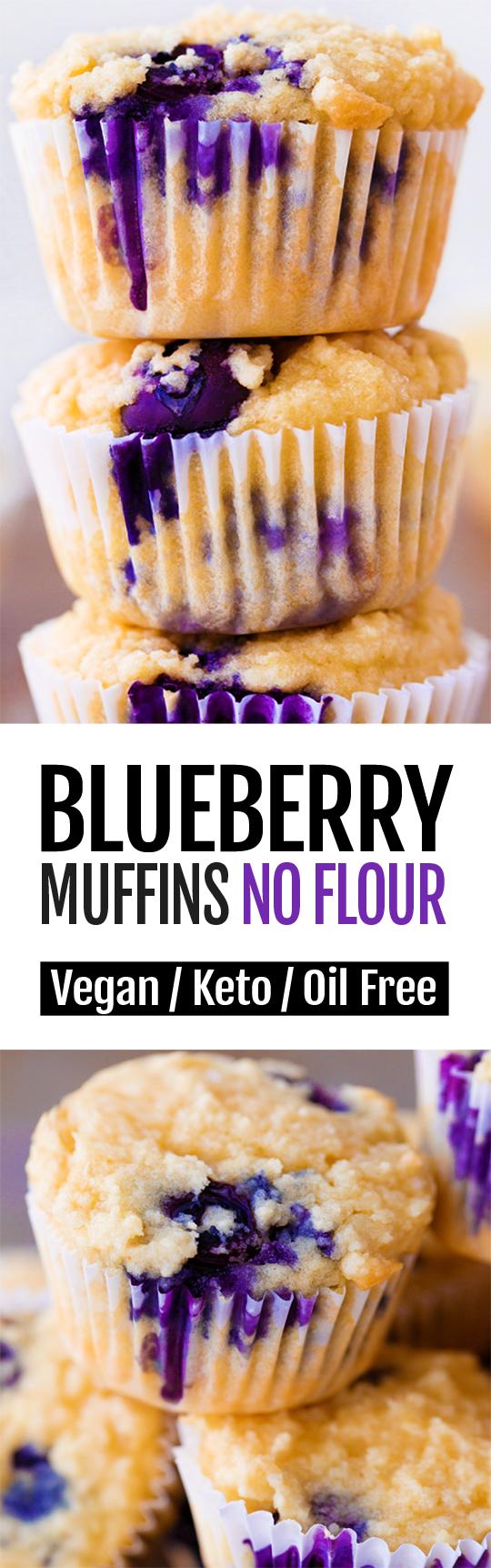 7 Ingredient Easy Keto Blueberry Muffins Recipe