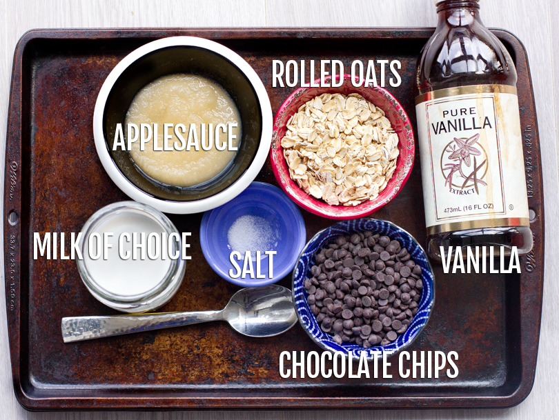 Healthy Baked Oatmeal Ingredients