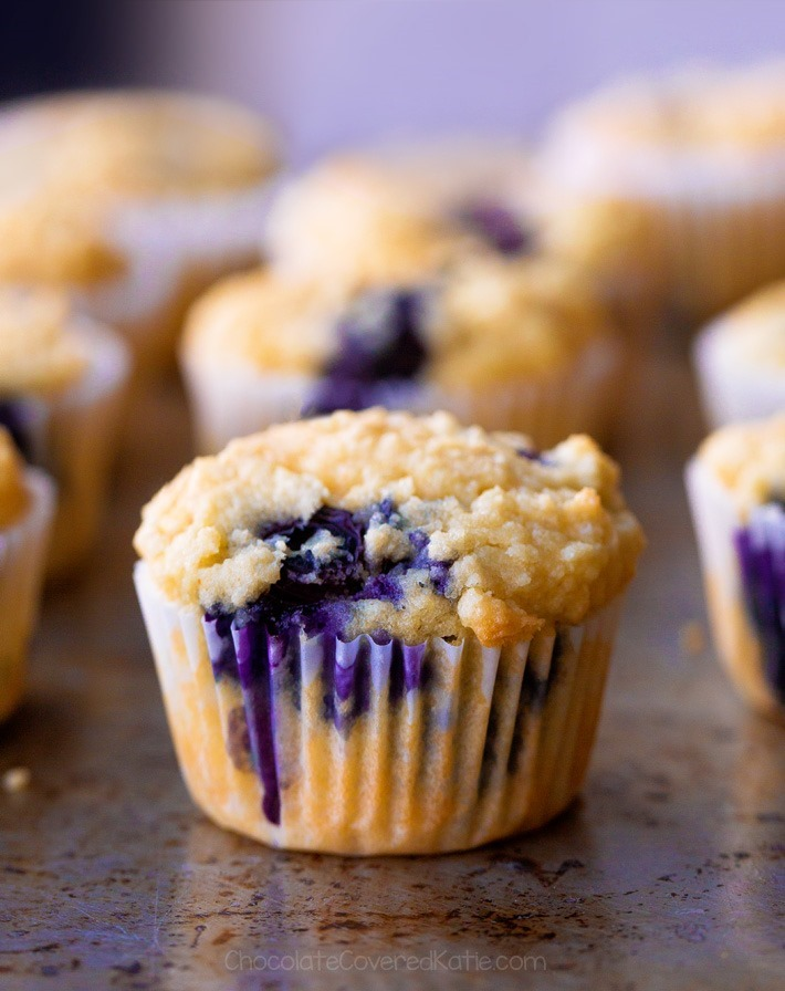 NO FLOUR Low Carb Blueberry Muffins
