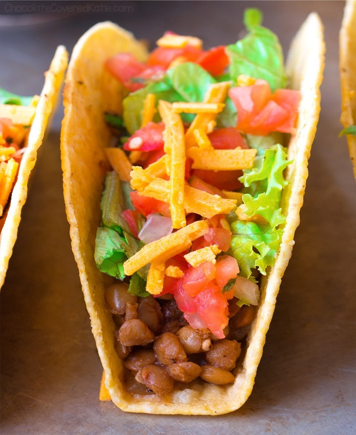 Super Easy Homemade Vegetarian Tacos