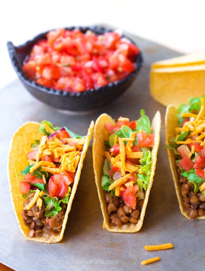 The Best 5 Ingredient Vegan Lentil Tacos