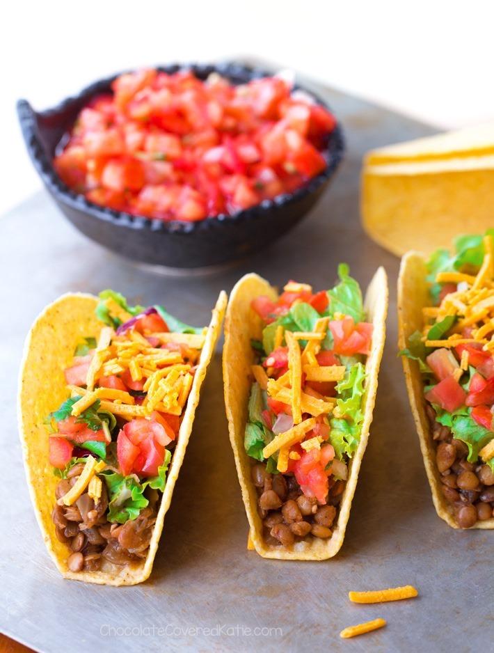 The Best 5 Ingredient Vegan Lentil Tacos