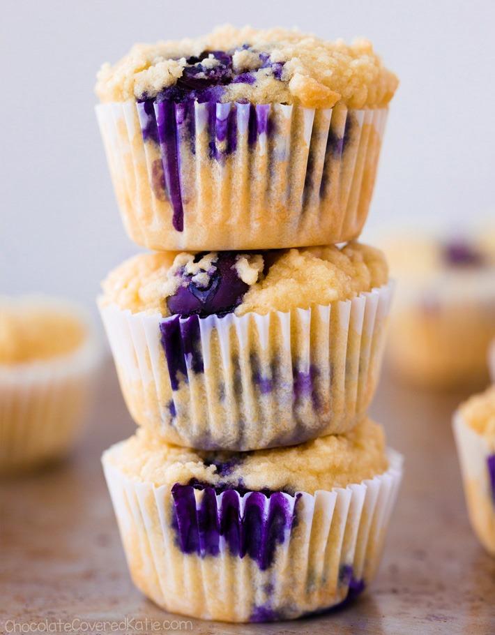 Os melhores muffins de blueberry com baixo teor de carboidratos ceto